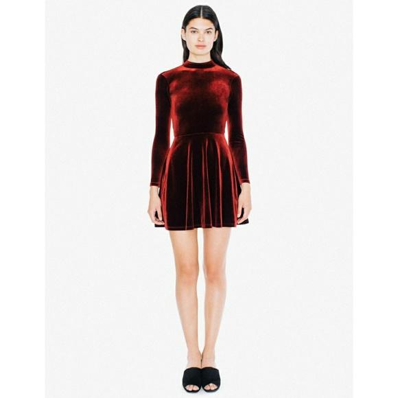 ddece4f330 American Apparel Dresses | Velvet Violette Skater Dress Red | Poshmark